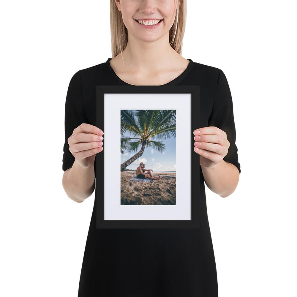 הדפסת תמונות עם מסגרת עץ אנכית