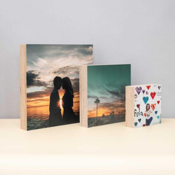 הדפסת תמונות על בלוק עץ