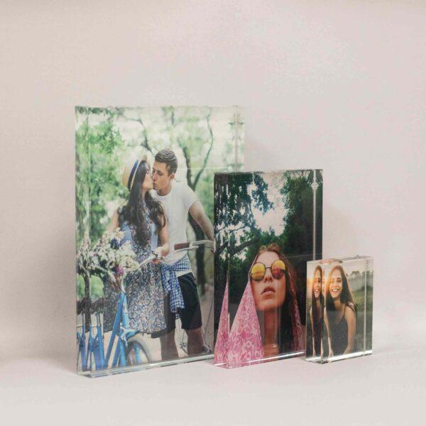 הדפסת תמונות על בלוק זכוכית מלבני